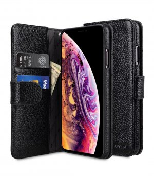 Premium Leather Wallet Book Type Case for Apple iPhone XI