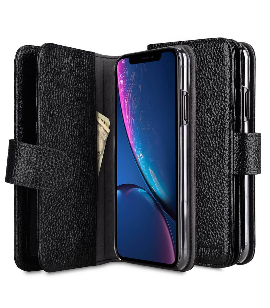 Premium Leather Wallet Plus Book Type Case for Apple iPhone XI