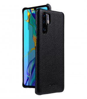 Premium Leather Snap Cover Case for Huawei P30 Pro