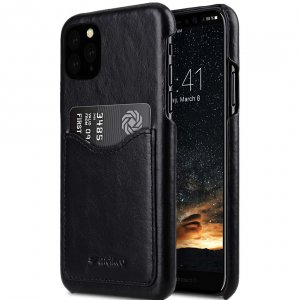 Premium Leather Card Slot Back Cover V2 Case for Apple iPhone 11 Pro Max