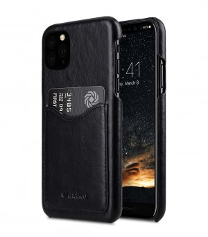 Premium Leather Card Slot Back Cover V2 Case for Apple iPhone 11