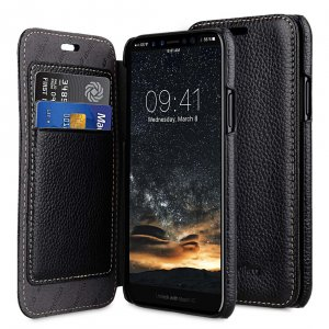 Premium Leather Face Cover Book Type Case for Apple iPhone 11 Pro