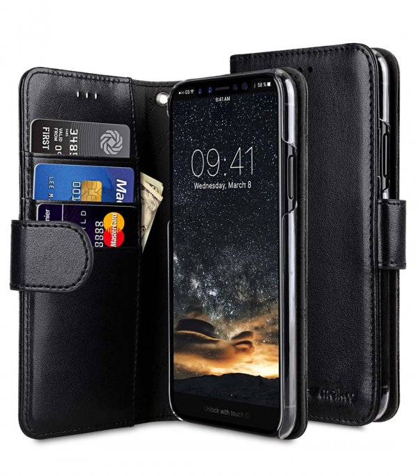 PU Leather Wallet Book Clear Type Case for Apple iPhone 11 Pro Max