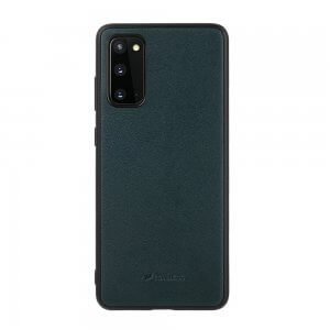 Melkco Ingenuity Series Premium Leather Snap Cover Case for Galaxy S20 Dark Green-1
