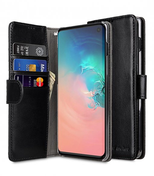 PU Leather Wallet Book Clear Type Case for Samsung Galaxy S10